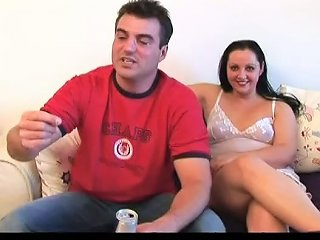 Chubby Brunette Chick Sucks Dildo Toy And Finger Fucks Her Snatch