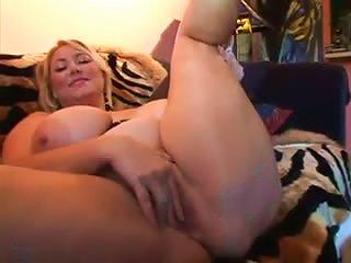 Fat Masturbating Chick Gets Laid