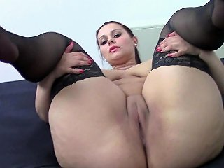 German Bbw Pawg Samanthas Bigbutt Black Stockings Tease